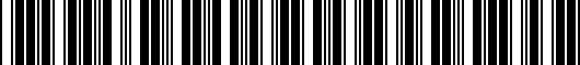 Barcode for 8R0061511041
